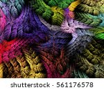 abstract fantasy multicolored... | Shutterstock . vector #561176578