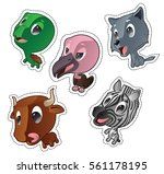 cute cartoon vector badges with ... | Shutterstock .eps vector #561178195