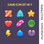 game icons candy and design... | Shutterstock .eps vector #561179896