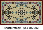 colorful traditional art mosaic ...   Shutterstock .eps vector #561182902