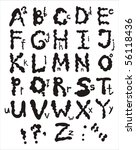 an alphabet from my big font... | Shutterstock .eps vector #56118436