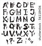 an alphabet from my big font... | Shutterstock .eps vector #56118436