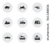 set of 9 shipment icons....