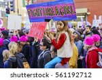 Small photo of Los Angeles, JAN 21: Special Women March event and Protesters on JAN 21, 2017 at Los Angeles, California