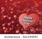 happy valentine's day many red... | Shutterstock . vector #561194092