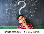 concepts on blackboard at... | Shutterstock . vector #561196846