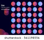 set vector line icons in flat... | Shutterstock .eps vector #561198556