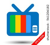 tv icon. vintage television. tv ... | Shutterstock .eps vector #561206182