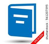 book icon. book flat design.... | Shutterstock .eps vector #561207595