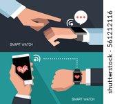 new technologies. smart watch.... | Shutterstock .eps vector #561212116