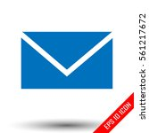 mail icon. simple flat logo of...