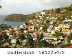 town of canaries in st lucia ... | Shutterstock . vector #561225472