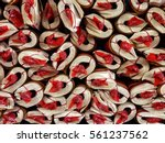rolled up incense paper joss... | Shutterstock . vector #561237562