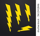 lightning bolt icons set ... | Shutterstock .eps vector #561241846