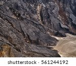 misty mountains volcano valley... | Shutterstock . vector #561244192