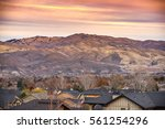 Rooftops Of Boise Idaho With...