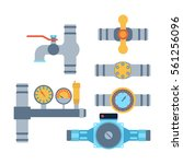 pipes vector icons isolated. | Shutterstock .eps vector #561256096