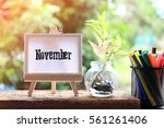 november   concept of canvas... | Shutterstock . vector #561261406