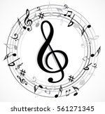 music note with music symbols | Shutterstock .eps vector #561271345