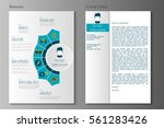 resume and cover letter in flat ... | Shutterstock .eps vector #561283426