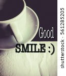 """words """"good smile   """" with a... 