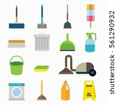 cleaning icon object design... | Shutterstock .eps vector #561290932
