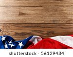 flapping flag usa with wave | Shutterstock . vector #56129434