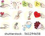 hand set | Shutterstock .eps vector #561294658