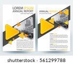 abstract vector modern flyers... | Shutterstock .eps vector #561299788