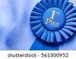 winners blue first place... | Shutterstock . vector #561300952