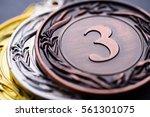 bronze and silver winners... | Shutterstock . vector #561301075