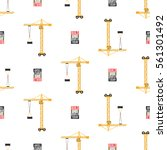 seamless pattern with tower...   Shutterstock .eps vector #561301492
