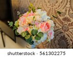 beautiful wedding bouquet in... | Shutterstock . vector #561302275