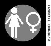 female sign illustration. white ...