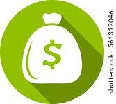 money icon round vector flat...