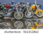 motorcycles on parking on... | Shutterstock . vector #561312862