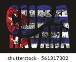 cuba flag graphic design vector ... | Shutterstock .eps vector #561317302