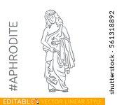 aphrodite. goddess of beauty ... | Shutterstock .eps vector #561318892