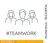 teamwork. leader of the team....   Shutterstock .eps vector #561318916