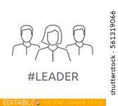 woman leader of team. editable...   Shutterstock .eps vector #561319066
