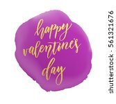 vector gold valentine day text... | Shutterstock .eps vector #561321676