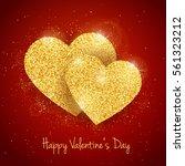 vector happy valentine's day... | Shutterstock .eps vector #561323212