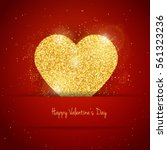 vector happy valentine's day... | Shutterstock .eps vector #561323236