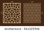 laser cutting set. woodcut...   Shutterstock .eps vector #561325546