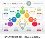 vector infographic of... | Shutterstock .eps vector #561333082
