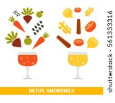 illustration with ingredients... | Shutterstock . vector #561333316
