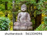 a buddha statue in kyoto  japan | Shutterstock . vector #561334096
