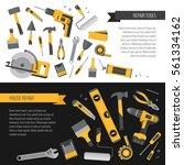 home repair banner.... | Shutterstock .eps vector #561334162