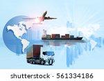 global logistics network web... | Shutterstock . vector #561334186