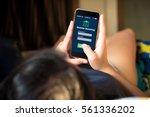 online mobile banking concept... | Shutterstock . vector #561336202